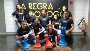 Funcionários da Rede Gazeta na sede da empresa