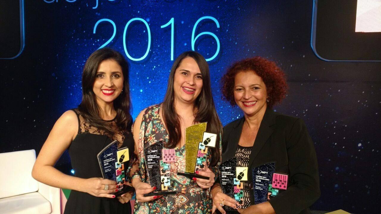 As repórteres Beatriz Seixas, Mikaella Campos e Vilmara Fernandes venceram o Prêmio MPT de Jornalismo