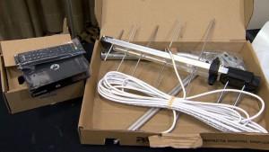 Kit com conversor e antena